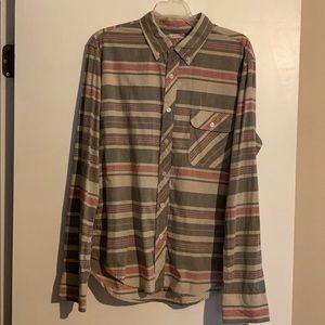 Arizona patterned button down collar shirt large